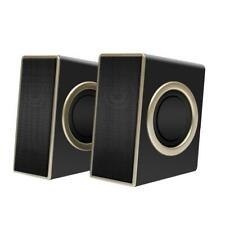 USB Powered Computer Speakers System Stereo Sound Subwoofer PC Gaming HEAVY BASS