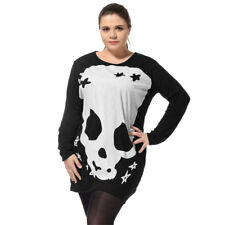 Women Plus Size Long Sleeves Stretchy Autumn Fashional Tunic Tee Shirt