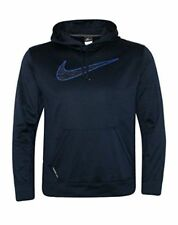 Mens Nike Therma-Fit Pullover Hoodie Sweatshirt Size L XL Navy Blue AA3106 419