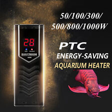 50-1000W PTC Aquarium Fish Tank Submersible Water Heater Adjustable Thermostat