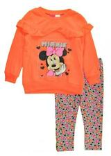 Minnie Mouse Toddler Girls Orange Top 2pc Legging Set Size 2T 3T 4T