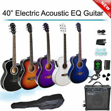 Electric Acoustic EQ Guitar with Amp Tuner Tripod  Picks Bag