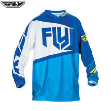 Fly Racing 2017 F-16 Youth Jersey Blue/Hi-Viz MX Motocross Enduro Offroad ATV