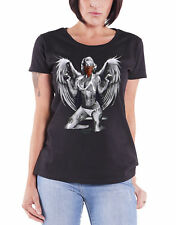 Marylin Monroe T Shirt Gangster With Wings new Official Womens Skinny Fit Black