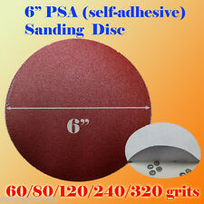 "6"" PSA Self Adhesive 60/80/120/180/320g Grit Sand Disc Stick On SandPaper Sander"