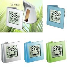 Multi-function Solar / Battery Powered LCD Digital Bedside Alarm Clock Silent