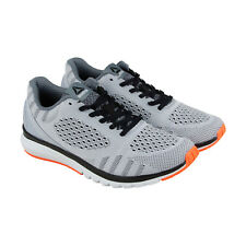 Reebok Reebok Print Smooth Ultk Mens Gray Textile Athletic Lace Up Running Shoes