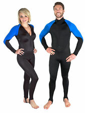 Storm Black/Blue Lycra Dive Skin for Scuba Diving, Snorkeling and Water Sports