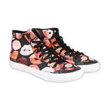 HUF HUF X Voutsa Classic Hi Mens Black Red Canvas High Top Sneakers Shoes