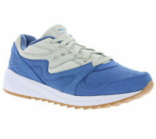 Saucony Grid 8000 Men's Shoes Real Leather Sneaker Sneakers Blue s70303-2 SALE