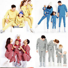 New Family Matching Baby Kids Pajamas Set Stripe Pajamas Set Sleepwear Nightwear