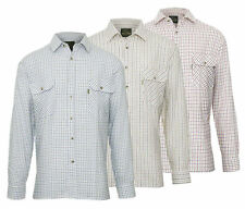 Mens Champion Tattersall Country Style Casual Check Long Sleeved Shirt