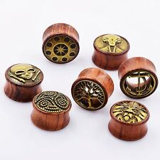 Ear Stretcher Wood Double Flare Tunnel Plug Gauge High Quality Multisize Choose