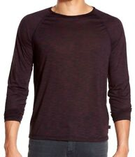 John Varvatos Star USA Men's Long Sleeve Cherrywood Raglan Crew-Neck Shirt *
