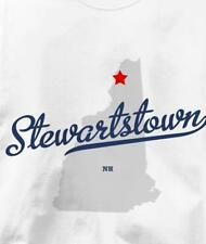 Stewartstown, New Hampshire NH MAP Souvenir T Shirt All Sizes & Colors