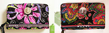 Vera Bradley Turn Lock Wallet Purple Punch or Symphony in Hue New with Tags