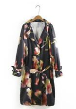 Women's Just cavalli flowered casual Jacket Long sleeved  coat Windbreaker S-L