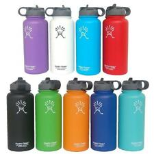New Hydro Flask Insulated Stainless Steel Wide Mouth Water Bottle with Straw Lid