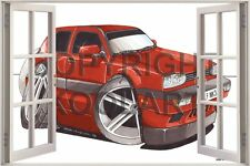 Huge 3D Koolart Window view Vw Golf Mk3 Wall Sticker Poster 2426