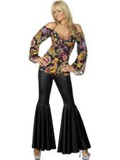 Ladies 1960's Hippie / Hippy Fancy Dress Costume / Outfit