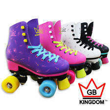 Kingdom Venus Ladies Quad Roller Skates Disco Girls Womens Retro Derby Skates