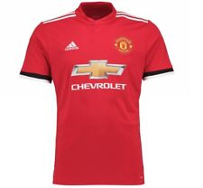 Manchester United FC Official Soccer Gift Mens Adidas 2017-18 Home Kit Jersey