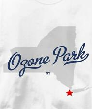 Ozone Park, Neighborhood of Queens, New York NY MAP T Shirt All Sizes & Colors