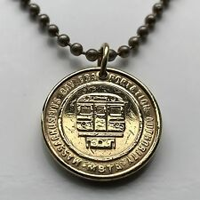 MBTA Massachusetts Bay Transportation Authority Subway token pendant T 001072b