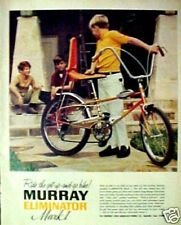 1969 Murray Eliminator Mark 1 Bicycle Sting-Ray Type Vintage Five-Speed Bike Ad