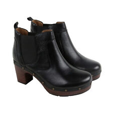 Clarks Ledella Star Womens Black Leather Casual Dress Slip On Boots Shoes