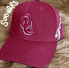 Oklahoma Snooners Baseball Cap NCAA Flex Fitted OU Hat Mens Size
