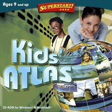 Age 9+ SuperStart Kids Atlas PC Windows XP Vista 7 8 10 Sealed New