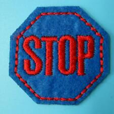 Stop Traffic Sign Iron on Sew Patch Applique Badge Embroidered Biker Applique