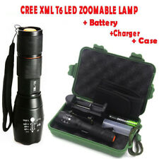 Tactical 15000Lumen Zoomable XML T6 LED Flashlight Torch 18650 Battery Charger k