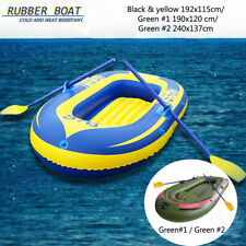 2/3 Person Inflatable Kayak Rubber Boat Dinghy Canoeing + Oars Rope + Pump Kit