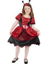 Girls Deluxe Ladybird Fancy Dress Costume with wings & headband - All sizes