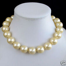 Ladies Necklace 14mm  Beads Sea Shell Pearl Necklace Women Fashion Jewelry