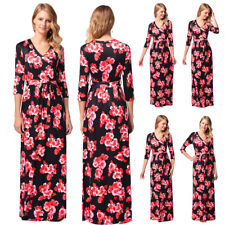 Womens Long Evening Cocktail Prom Wedding Party Maxi Dress Boho Floral Dress