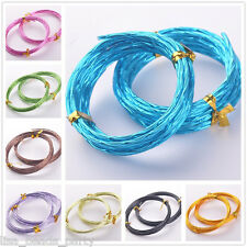 12Gauge 2.0mm Carved Wave Aluminum Jewelry Making Wrap Cord Craft Wire 25 Colors