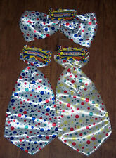 BIG Clown ties,super size bow or neck tie,polka dots,birthday,Age 8+,costume