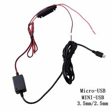 3.5mm Micro Mini USB Dash Cam 10 Foot Hardwire Fuse Kit for A119 A119S G1W G1WS