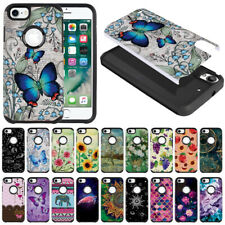 """For Apple iPhone 8 / iPhone 7 4.7"""" Shock Proof Impact Hybrid TPU Hard Case Cover"""