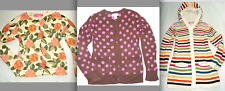GYMBOREE Girls FLORAL ZEBRA Animal Prt STRIPED POLKA Dot SWEATER CARDIGAN 7 8 10