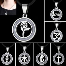 Valentine's Lover Stainless Steel Rose Flower Cross Pendant Necklace Jewelry New