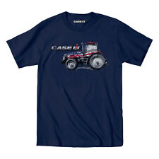Case IH Patriotic Tractor Youth T-Shirt America Print Blue Tee