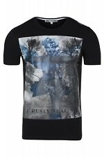 Rusty Neal Shirt Men's Round Neck T-Shirt Slim Fit Men's Shirt Black Sale
