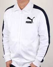 Puma T7 Vintage Track Top in White & Navy - retro tracksuit jacket b-boy 80s