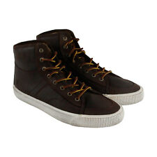 Frye Miller High Lace Mens Brown Canvas High Top Lace Up Sneakers Shoes
