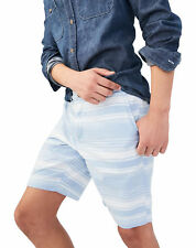 aeropostale mens breeze stripe flat-front chino shorts