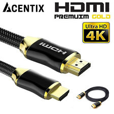 ACENTIX HDMI 4K V2 High Speed With Ethernet Cable Lead For TVs Sky HD PS4 Xbox